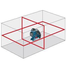 лазерный уровень с двумя плоскостями