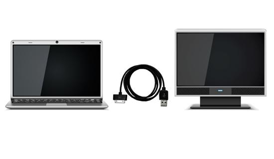 Как можно подключить монитор к ноутбуку