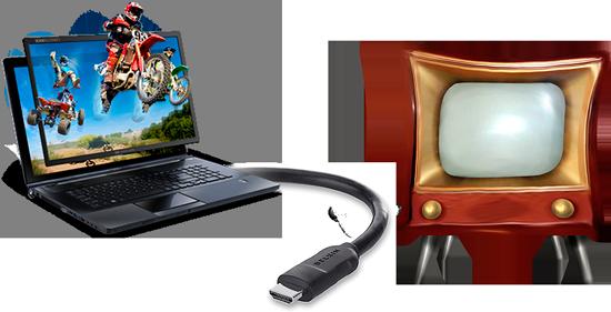 Как подключить ноутбук к телевизору с помощью HDMI кабеля